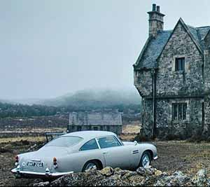 The Aston Martin and Skyfall