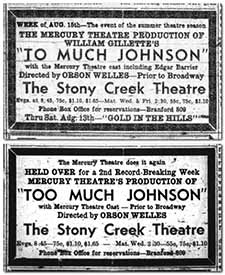 Newspaper advertisements from 1938. Courtesy of wellesnet.com
