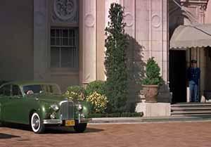 Gavin Elster's green Jaguar