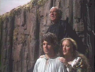 Prospero, Ferdinand (Christopher Guard), and Miranda (Pippa Guard)