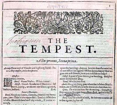 A page from the First Folio of Shakespeare plays in 1623