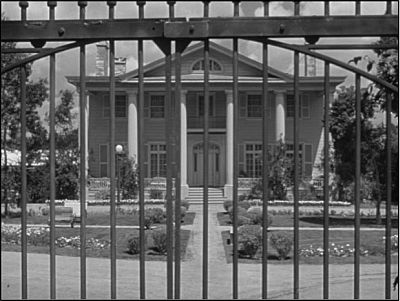 The iron bars imply that Chumley's Rest is a restrictive institution.
