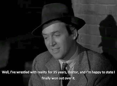 "The ""wise fool"": James Stewart as Elwood P. Dowd"