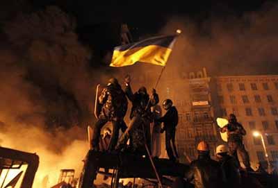 A scene from Loznitsa's Maidan
