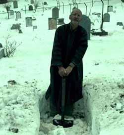 Singing gravekeeper