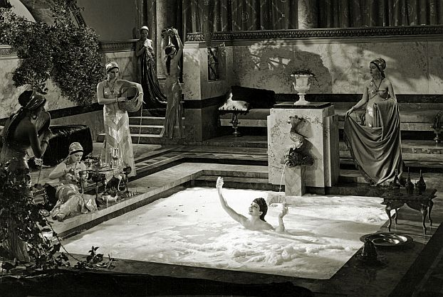 Poppaea (Claudette Colbert) bathes in asses' milk.