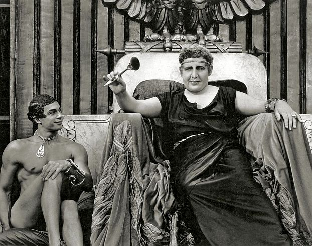 Charles Laughton as Nero. Photograph by William Thomas.