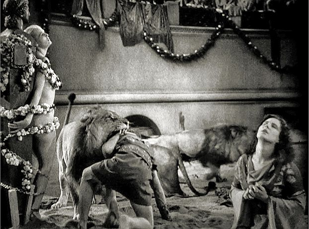 Recreating scenes of Christian martyrdom was a trying experience for DeMille.