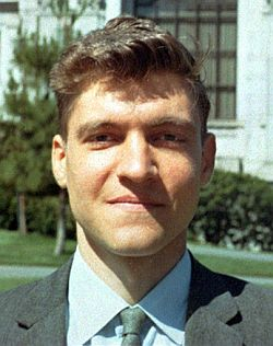 Ted Kaczynski, 1968. Public domain image courtesy of Wikimedia Commons