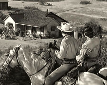 The Lone Ranger and Tonto: screenshot from the 1950s TV series