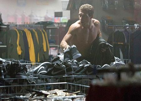 Kyle Reese . . . and a lot of shoes