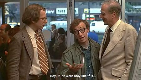With Marshall McLuhan (right) in Annie Hall