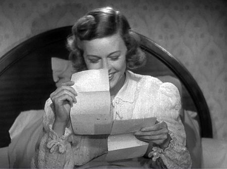 The Shop Around the Corner: Margaret Sullavan reads the letter ...