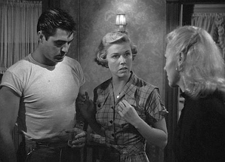 Steve Cochran, Doris Day, and Ginger Rogers in Storm Warning