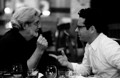 George Lucas and J. J. Abrams, August 2007. Photo by Joi, licensed through the courtesy of the photographer and Wikimedia Commons