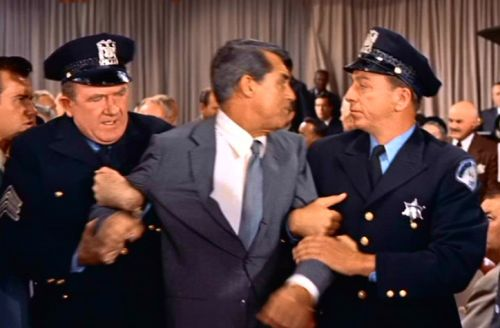 The auction scene: North by Northwest