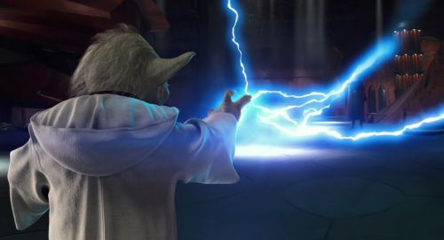 Yoda faces Count Dooku