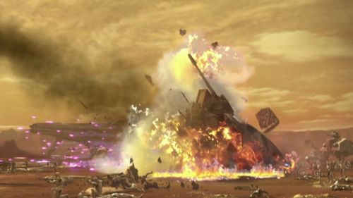 The climactic battle rages on Geonosis