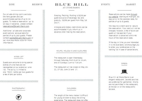 "Food waste: From the Blue Hill restaurant at Stone Farms website: ""Rooting, Pecking,, Rooting is $238 per person exclusive of tax and gratuity"" From their website"