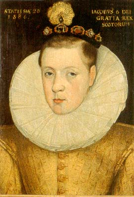 James in 1586, age 20, artist unknown