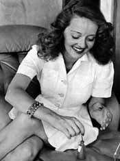 Bette and her nail polish