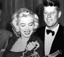 Marilyn Monroe and John Kennedy