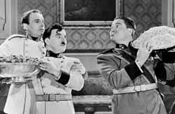 Henry Daniell, Chaplin, and Jack Oakie