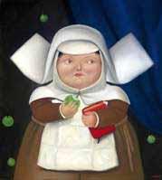 Figure 1: Botero's Nun Eating an Apple