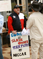 Tea Party protestor