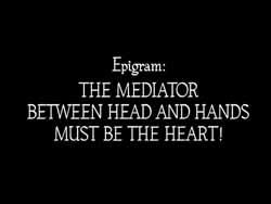 The film's motto