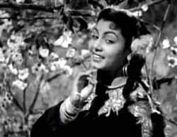 Nimmi in Raj Kapoor's Barsaat, 1949