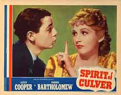 Figure 4: Love-smitten Bob Reynolds III (Freddie Bartholomew) is given a finger as rejection from icy actress Kathryn Kane (June Macy) in The Spirit of Culver.