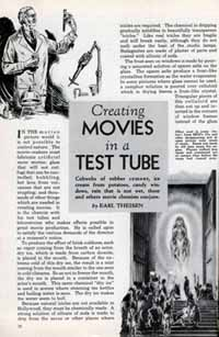 'Creating movies in a test tube, from a 1936 Mechanix Illustrated article'