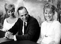 Bibi Andersson, Bergman, and Liv Ullmann