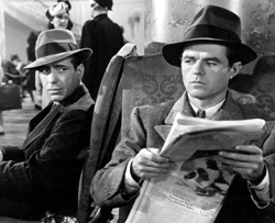 Bogart and Elisha Cook Jr. in Maltese Falcon
