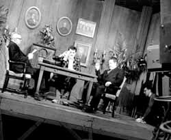Ernie on the set of The Ernie Kovacs Show