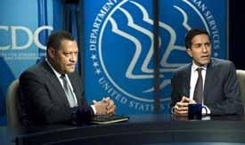 Lawrence Fishburne and Sanjay Gupta