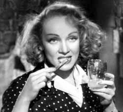 Dietrich brushes her teeth
