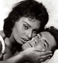 Perkins and Sophia Loren, 1957