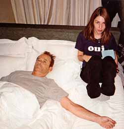 Sofia Coppola and Bill Murray on the set of Lost in Translation