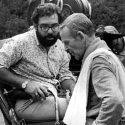 Astaire and Francis Ford Coppola during the filming of Finian's Rainbow