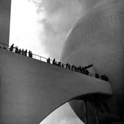 Visitors inspect Democracity, 1939 World's Fair