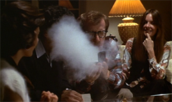 The cocaine scene in Annie Hall