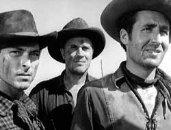 Lee Van Cleef, Robert Wilke, and Sheb Wooley