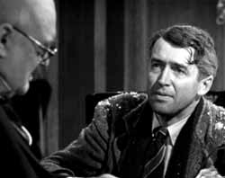 Lionel Barrymore and James Stewart in It's a Wonderful Life