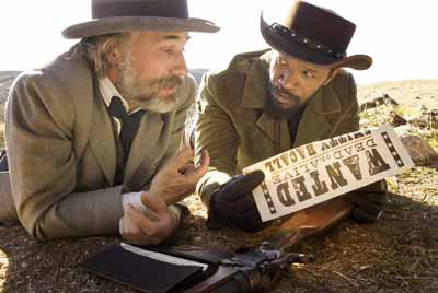 Waltz and Jamie Foxx as Django
