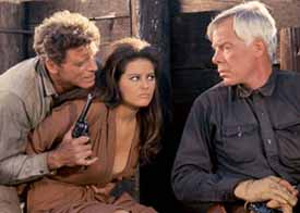 Burt Lancaster, Claudia Cardinale, and Lee Marvin in The Professionals