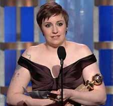 Dunham wins a Golden Globe Award for Girls