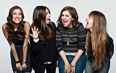 The cast of Girls: Allison Williams, Zosia Mamet, Lena Dunham and Jemima Kirke