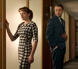 Peggy Olson and Pete Campbell
